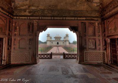 Mausoleum seen from the gate