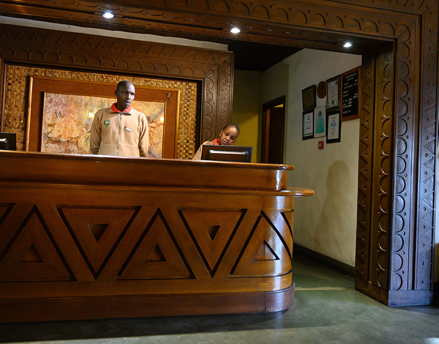 Five Star Hotel Reception